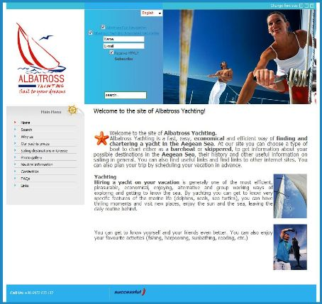 Albatross yachting web site